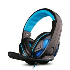 Darkiron X Stereo Pc Gaming Headset, Over-Ear Noise Cancelling Headphone With Volume Control , Flexible Microphone for Computer Game , Tablets ,Laptops (Black&Blue-X2-pro)
