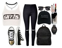 """Untitled #428"" by elsakaram ❤ liked on Polyvore featuring Alexander Wang, Converse, Hogan, Nasaseasons, H&M and Chanel"