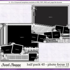Cindy's Layered Templates - Half Pack Photo Focus 12 by Cindy Schneider