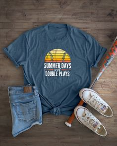 """Don't get stuck on the Bench! 30% OFF with code """"HOMERUN"""" Baseball Shirt Designs, Baseball Shirts, Softball Mom, Baseball Mom, T Shirts With Sayings, Cute Shirts, Casual Outfits, Cute Outfits, Spirit Wear"""