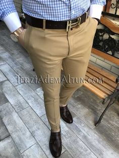 Michail score slim fit camel renk erkek kumaş pantolon T2353 Mens Fashion Suits, Fashion Pants, Classy Suits, Classy Men, Pantalones Slim Fit, Mens Indian Wear, Formal Men Outfit, Stylish Mens Outfits, African Men Fashion