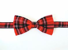 Preppy collection Red Bow Tie Self tying or by TheBowtieFactory, $48.00