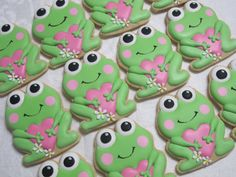 Frog with Heart Decorated Sugar Cookies Frog by MartaIngros