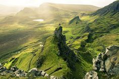 Quiraing area, isle of Skye. Skye or the Isle of Skye is the largest and most northerly large island in the Inner Hebrides of Scotland. Photo by: Ionisation
