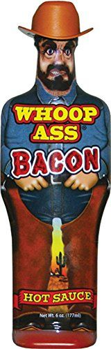 Whoop Ass Bacon Hot Sauce >>> Continue to the product at the image link. Homemade Gifts For Men, Tomato Paste, Collectible Figurines, Natural Flavors, Hot Sauce, Bacon, Bbq, Stuffed Peppers, My Favorite Things