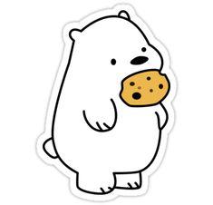 'Ice Bear Cookies' Sticker by Eduardo Valdivia – Stickers! … 'Ice Bear Cookies' Sticker by Eduardo Valdivia – Stickers! Stickers Cool, Stickers Kawaii, Bubble Stickers, Phone Stickers, Printable Stickers, Free Printable, Kawaii Drawings, Easy Drawings, Cute Drawings Tumblr