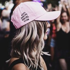 "Women Girl ""Anti Social Social Club "" Letter Hats Baseball Sport Cap Hip-Hop Cap"
