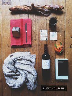 essentials : paris travel. styling by jenn elliott blake via scout blog.