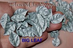 20pcs Silver Leaves, Leaf Bead, Polymer clay Leafs Pendants Silver Plated,  Autumn Leaves, Bridal Leaf. Code:92 di FlowerClaySupplies su Etsy