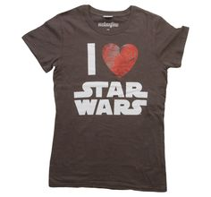 Womens I Heart Star Wars T-Shirt Front-want this for my birthday! @Joan Moses :)
