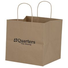 "Brown Kraft Wide Gusset Paper Bag - 10"" x 10-1/4"" (Item No. 128485-1010-B) from only $1.32 ready to be imprinted by 4imprint Promotional Products"
