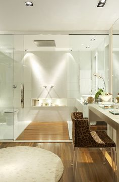 Loft da Filha - Casa Design, Rio de Janeiro, Brasil  by Roberta Devisate Design em Arquitetura Modern Bathroom Design, Bathroom Interior Design, Decor Interior Design, Kitchen Design, Modern Bathrooms, Bathroom Designs, Bathroom Inspiration, Interior Inspiration, Interior Architecture