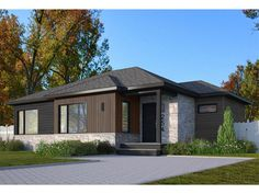 027H-0541: Small Contemporary House Plan Small Contemporary House Plans, Contemporary Bathrooms, Best House Plans, Small House Plans, Vertical Siding, Drummond House Plans, Floor Layout, Build Your Dream Home, Living Spaces