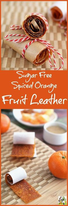 Make this Sugar Free Spiced Orange Fruit Leather recipe as an alternative to store bought foot roll up candy. #ad #SweetAsCandy /cutiescitrus/