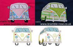 Auto-Käfer, Van/Camper-Maschine Stickerei Applique Design - mehrere Größen für…