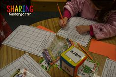 Sharing Kindergarten: Sight Word Stations: Roll and Read station- it comes with two dice options