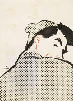 :: René Gruau  Cover for Sir, 1957 – No. 4, 1957 ::