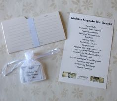 wedding keepsake Box Checklist