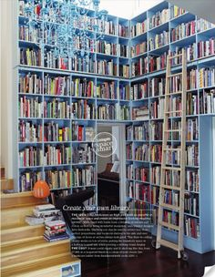 My dream home has a library. Floor to ceiling wall to wall. And a comfy couch.