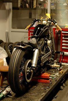 Bobber Inspiration | Harley custom racer/bobber by Rough Crafts | Bobbers and Custom Motorcycles