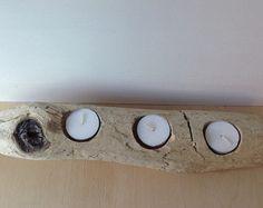 Large driftwood candle holder 104 driftwood by FlotsamJetsamCrafts