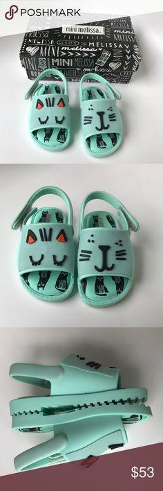 Genuine Mini Melissa Campana Zig Zag shoes Pink Candy Glitter size 5-10 toddler