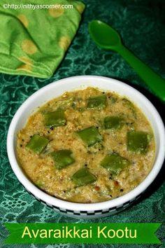 Avaraikkai Kootu | Broad Beans Kootu | Easy Kootu Recipes » Nithya's Corner