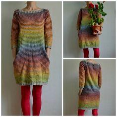 Colorful Still Light Tunic - Knit Rainbow Variation By MissKadri