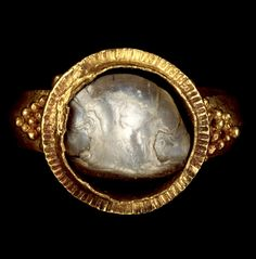 This Roman ring in gold with a pearl is over 1600 years old and still looking as impressive as ever.  Ring, A.D. 375 - 400, Unknown. J. Paul Getty Museum.