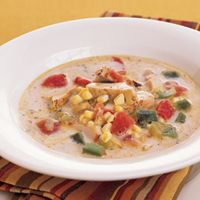 With a few fresh ingredients, convenience foods and leftovers are transformed into this spicy, creamy corn chowder.