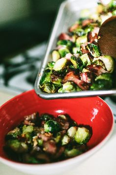 Roasted Brussels Sprouts with Bacon | #food #recipe #bacon #yum # ...