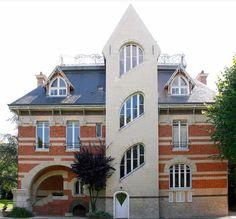 Art Nouveau - Maison 'La Hublotière' -  Route de Montesson - Le Vésinet - Hector Guimard - 1896 - Façade Arrière
