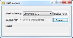 flash backup Respaldar pendrive o memoria USB con Flash Backup