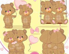 Clipart de San Valentín, imágenes prediseñadas de oso de peluche, oso de peluche, día de San Valentín, imágenes prediseñadas de peluche de San Valentín, amor imágenes prediseñadas - SEA127