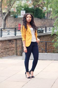 MEEK~N~MILD | By Shirley B. Eniang: Mustard Blazer. The hair, the outfit, love it!!!