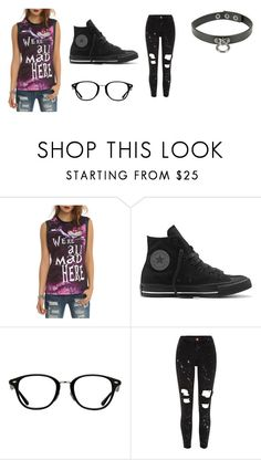 """""""meo"""" by dino-zz101 ❤ liked on Polyvore featuring Disney, Converse, Ray-Ban and River Island"""