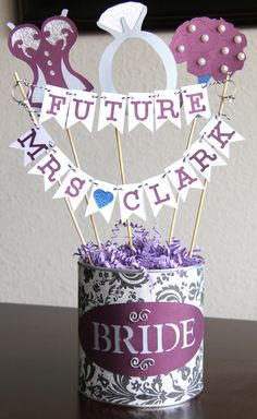 Bridal Shower Centerpiece/Bachelorette/Bridal by LanvisB on Etsy, $20.00