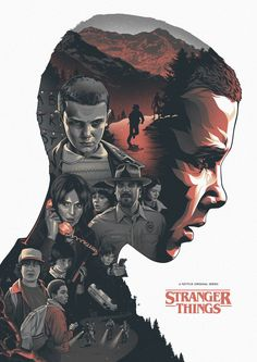 i like how the picture shows that the show is based on the girl and it captures all the main characters inside the one poster in a good fashion. also very new style comic with good shading influence - eleven (stranger things) poster Stranger Things Netflix, Stranger Things Fan Art, Stranger Things Tattoo, Eleven Stranger Things, Plakat Design, Poster Design, Print Poster, Alternative Movie Posters, Animation