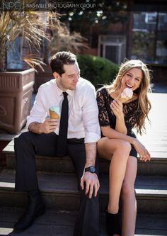 Engagement photos with ice cream by #NashvillePhotographyGroup