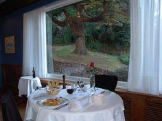 Table for two at Restaurant Del Bosque, in Bariloche.