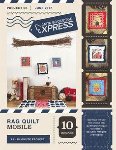 Anita's Express – Rag Quilt Mobile   Anita Goodesign