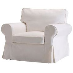 Ikea Ektorp Chair Cover, Blekinge white ($59) ❤ liked on Polyvore featuring home, children's room and children's bedding