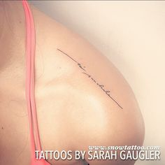 For Isabella, Só Saudade, A Custom Designed Tattoo by Sarah Gaugler at the…
