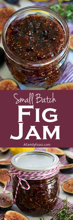 Small Batch Fig Jam | A Family Feast | this is easy and perfectly sweet. A wonderful way to cook with in-season figs.