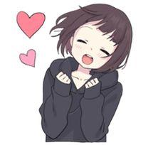 Menhera little girl. 2 EN – LINE stickers Anime Neko, Cute Anime Chibi, Chica Anime Manga, Kawaii Chan, Loli Kawaii, Kawaii Anime Girl, Girls Anime, Anime Art Girl, Manga Girl