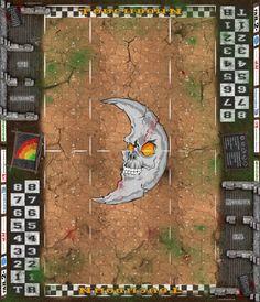 Fantasy Football Spielfeld - Ork V (Bad Moon Clan)