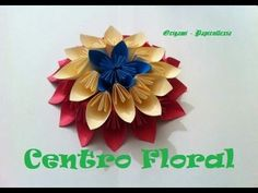 Origami - Papiroflexia. Centro Floral Decorativo.