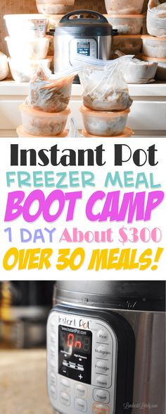 Instant Pot Freezer Meal Boot Camp || Cheap Easy Monthly Cooking || Dinner Ideas for Busy/New Moms || Meals || Pressure Cooker || Easy Recipes || Simple Dinners || Food || Ground Beef || Chicken || Pork || Pressure Cooking || Printable Freezer Meal Labels