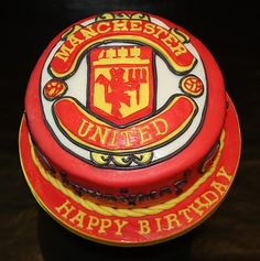 -: Manchester United Cake for my 26 b-day Football Theme Birthday, 10th Birthday, Birthday Ideas, Birthday Quotes, Birthday Cakes, Manchester United Cake, Manchester United Wallpaper, How To Make Cake, Food To Make