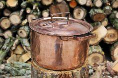 Pentola alta in rame stagnata tin copper pot fatta a mano